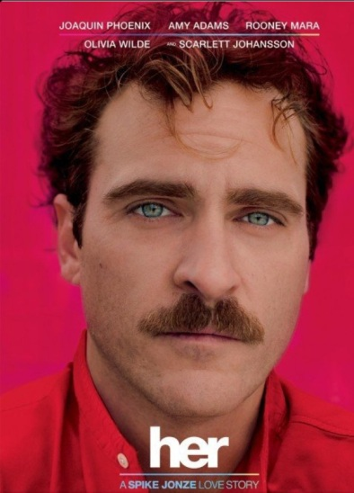 Joaquin Pheonix in her, directed and written by Spike Jonze (photo: courtesy of IMBD, United Rock Howard Company LLC)