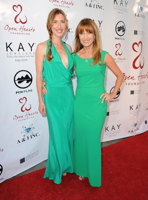 Actress Jane Seymour (R) and her daughter Katherine Flynn attend the 'Open Hearts Foundation Gala' on May 10, 2014 in Malibu, California. (Photo by Angela Weiss/Getty Images for Open Hearts Foundation)