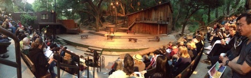 Will Geer's Theatricum Botanicum set for Lear, a reversed role production (photo credit: Sydney Ramone Stokes)