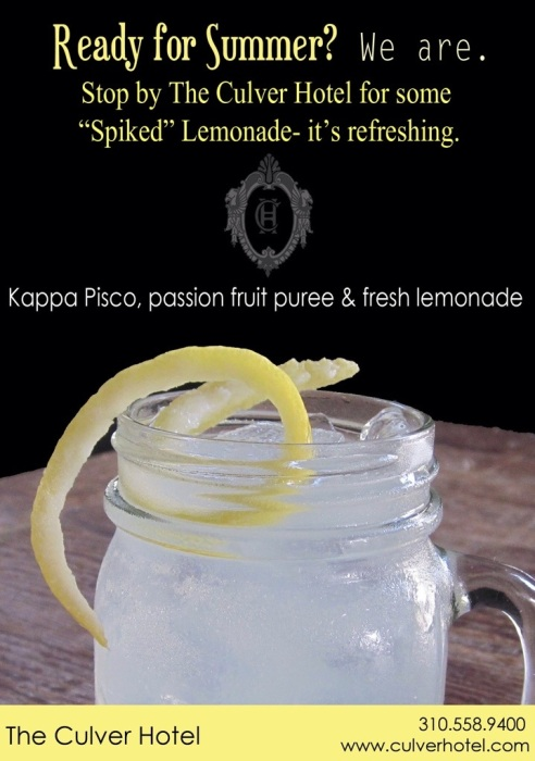 The Culver Hotel's Spiked Lemonade (photo: courtesy of The Culver Hotel)