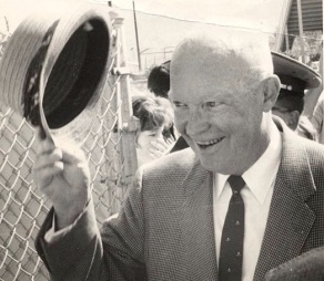 Former President Dwight Eisenhower at Spring Training Baseball game in Palm Springs taken with an Instamatic camera (photo: Ronn Robinson and Gaylon White)