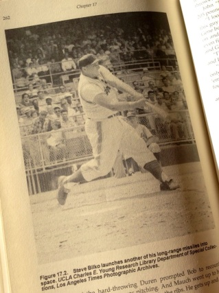 From the pages of Gaylon H. White's book, The Bilko Athletic Club, Steve Bilko shows his power up at bat (photo: courtesy of The Bilko Athletic Club)