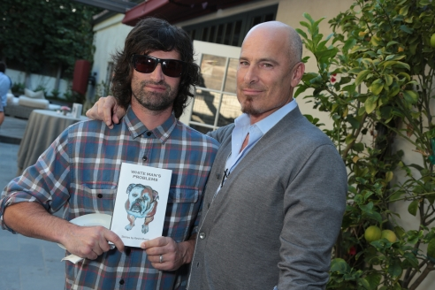 "Singer Pete Yorn and attorney Kevin Yorn with Kevin Morris's book at Kevin Morris: ""White Man's Problems"" Book Party held in Los Angeles, CA on Tuesday, June 3, 2014. (Alex J. Berliner/ABImages)"