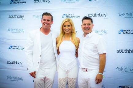 Ryan Choura of Choura Events and Nick Arquette, founder of Walk With Sally on red carpet of 8th Annual White Light White Night  (photo: courtesy of Walk With Sally)
