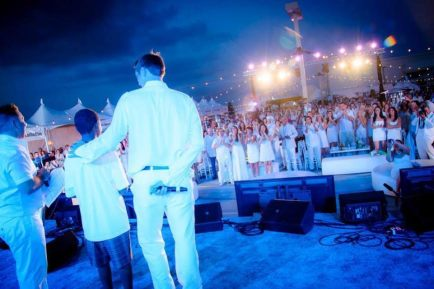 Max Hunter and Benjamin Downs receiving the 2014 Friendship of the Year award at Walk With Sally's 8th annual White Light White Night event (photo: courtesy of Walk With Sally)