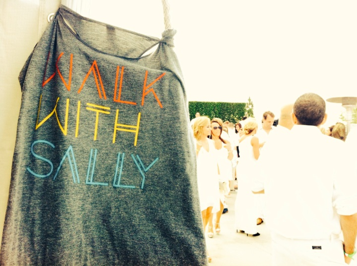 Walk With Sally's 8th Annual White Light White Night fundraising event (photo credit: Rochelle Robinson)