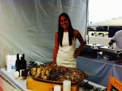 Incredible Restaurant Booths at Walk With Sally's 8th Annual White Light White Night event (photo credit: Rochelle Robinson)