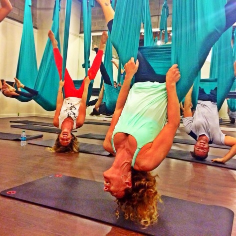 LaLaScoop Ladies hanging out at Air Areal Fitness for Class Pass WeHo Launch celebration
