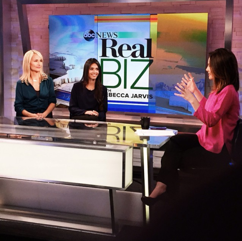 Class Pass CEO & Founder, Payal Kadakia, on NBC's Rebecca Jarvis Show, ABC 10/14/2014 (photo: courtesy of Class Pass)