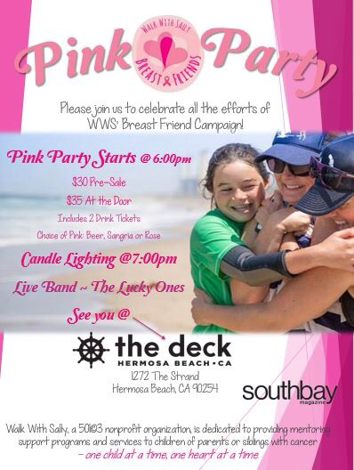 Walk With Sally Breast Friends Pink Party