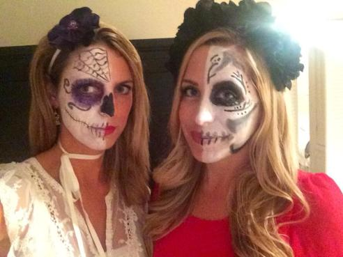 Writer Melissa Curtin with Amber Nowland in our Day of the Dead wear.