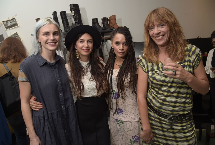 Phoebe Dahl, Shiva Rose, Lisa Bonet and Deborah Baker attend the spring preview and private shopping event to benefit Children's Action Network at Fiorentini + Baker on October 30, 2014 in Venice, California. (Photo by Jason Kempin/Getty Images for Fiorentini + Baker)