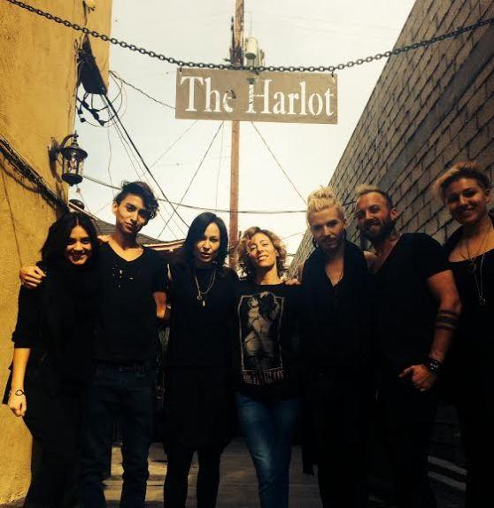 Eresto Garcia, Marylle Koken, Rochelle Robinson, Steven Tabimba, Oliver Shortall, at The Harlot Salon in Venice, CA