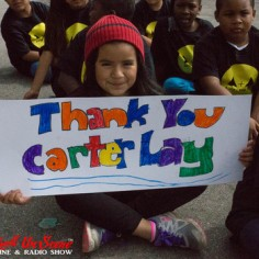 Westminster Elementary School Kids Thank Adopt The Arts organization and donor, Carter Lay, for giving them a music program (photo credit: RockwellUnScene Photos)