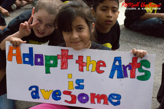 Westminster Elementary School Kids Thank Adopt The Arts organization for giving them a music program (photo credit: RockwellUnScene Photos)