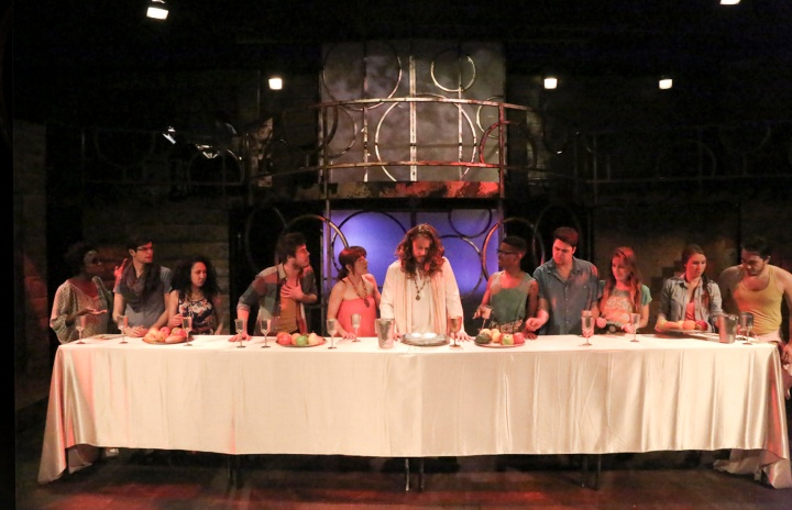 "The Last Supper opens Act Two of DOMA Theatre Company's version of ""Jesus Christ Superstar."" Photo credit: Michael Lamont)"