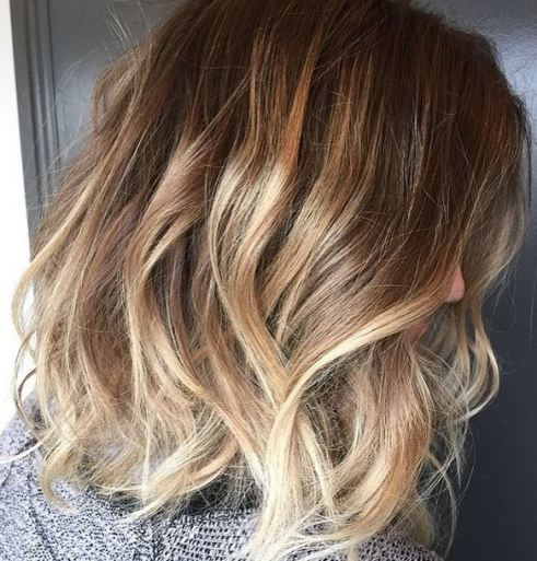 Long hair has always been the norm in LA, but now shoulder length hair is popping up all over and is definitely the new 'in cut' for 2015. Beachy blond color by Meaghan Jones at Jonathan and George salon in Beverly Hills.