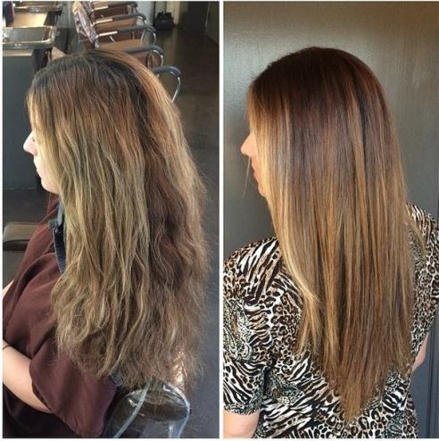 Added depth gives this brunette's highlights more pop, thanks to color expert Mina Kwok at Jonathan and George.
