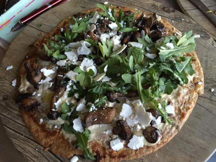 Greenleaf's wild mushroom and truffle pizza in Hollywood (Photo credit: Scott Bridges)