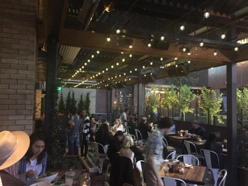 Greenleaf's patio on Hollywood Blvd. (Photo credit: Scott Bridges)