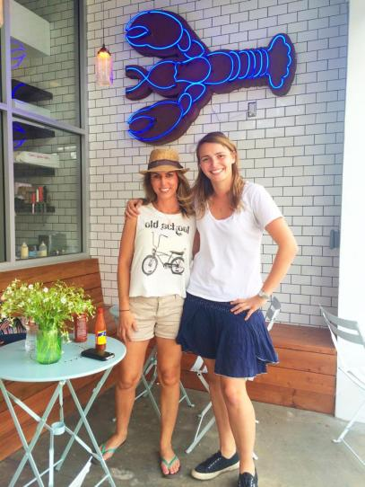 Lobsta Luva Melissa Curtin with Knuckle and Claw owner Sophie Dahl at their new restaurant in Silver Lake. Could BYOB be coming soon? (Photo credit: Melissa Curtin)