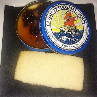 Vanilla Panna Cotta for dessert. Final Course. Caviar tasting at Petrossian West Hollywood.