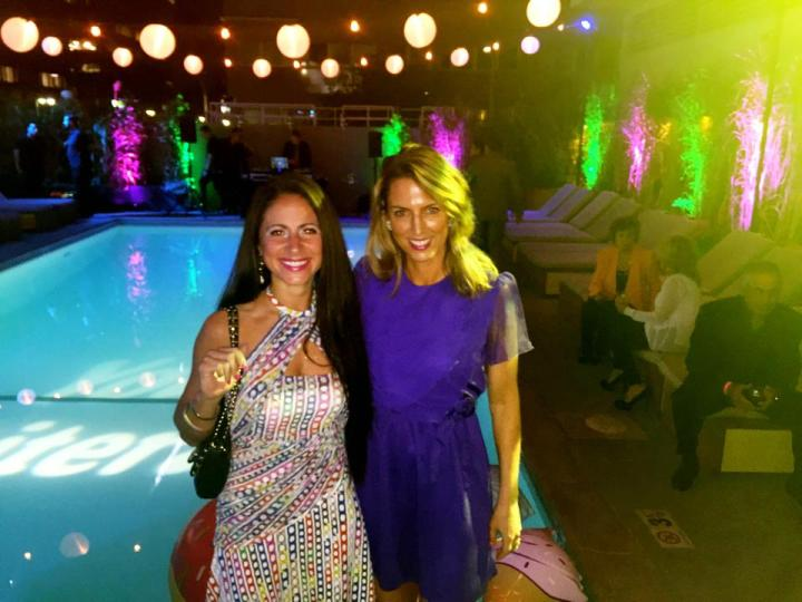 Variety Magazine Entertainment Editor Jasmin Rosemberg and LaLaScoop writer Melissa Curtin on top of the Line Hotel for the Young Literati Annual Toast.
