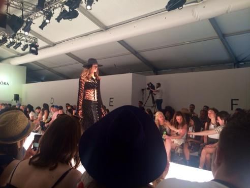 Fashion show at Parker Palm Springs sponsored by Pandora jewelry. Coachella 2015 (Photo credit: Melissa Curtin)