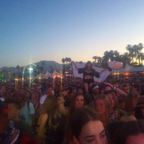 Coachella vibes. Kaskade - ing (Photo credit: Melissa Curtin)