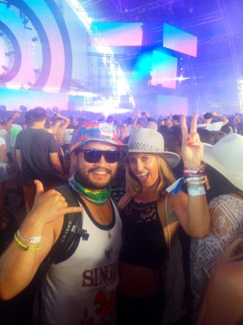 Hello Hello! Dancing our faces off to Martin Solveig. Coachella 2015 (Photo credit: Melissa Curtin)