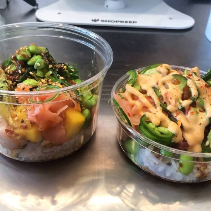 Mainland Poke Shop on W. 3rd St in Los Angeles