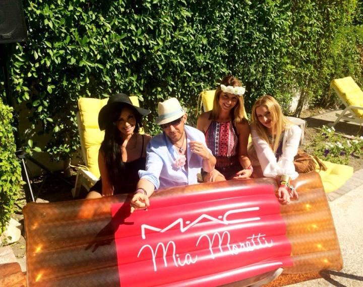 My new friends at the MAC Mia Moretti Cosmetics party at Ingleside Inn. Coachella 2015 (Photo credit: Melissa Curtin)