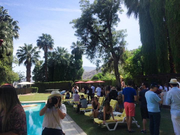Mia Moretti MAC Cosmetics at the uber gorgeous Palm Springs' Ingleside Inn,