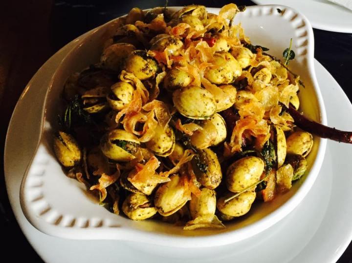 """Unshelled """"falafel-style"""" pistachios."""