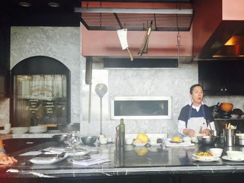 chi Specca Chef Nancy Silverton demonstrates cooking with pistachios.