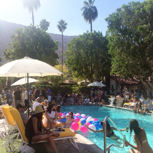Saturday at the Popsugar Bash at the Viceroy Hotel. Coachella.