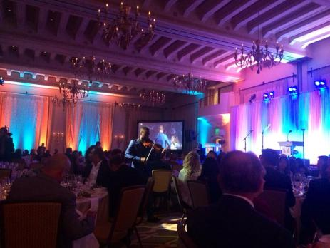 Violinist Lee England, Jr. starts the gala with a powerful rendition of Heroes by David Bowie. (Photo credit: Melissa Curtin)