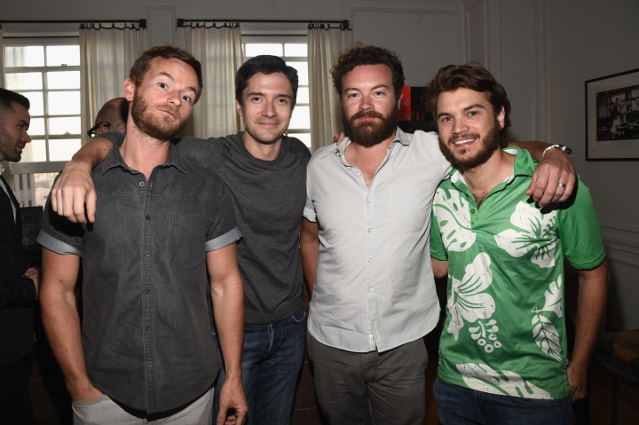 LOS ANGELES, CA - JUNE 18:  (L-R) Actors Christopher Masterson, Topher Grace, Danny Masterson and Emile Hirsch attend an introduction to HEAVEN 2016 presented by The Art of Elysium and Samsung Galaxy on June 18, 2015 in Los Angeles, California.  (Photo by Michael Buckner/Getty Images for Samsung)