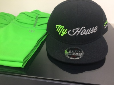 Cycle House in-house spinning gear in their signature colors of electric green and black. (photo credit: Rochelle Robinson)