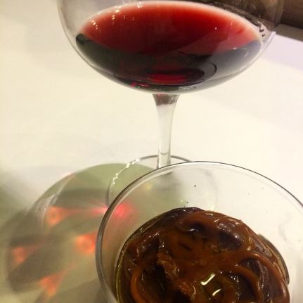 Cheebo's Gold Pot de Creme. What is better than red wine and chocolate? (Photo credit: Melissa Curtin)