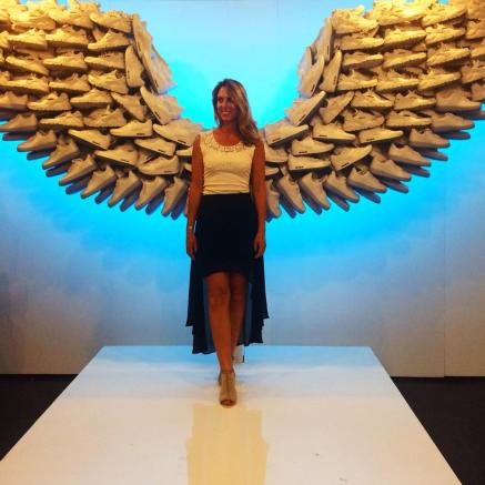 Writer Melissa Curtin winged with Nikes.