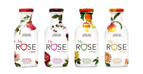 Drink a lovely variety of H2rOse ~ rose water, safforn, cane sugar with mango, apple, mixed berries or peach (photo: courtesy of H2rOse facebook page)
