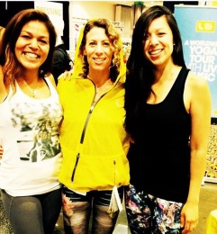 Rochelle with Lole Women, Jennifer and Fatan, at IDEA World Fitness Convention