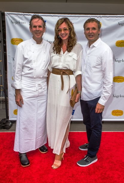 Chef Thomas Keller, Allison Janney (Mom, West Wing, Minions, The Movie), Phil Rosenthal, Executive Producer of Everybody Loves Raymond. (Photo credit: Paul Hebert)