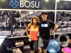 Inventor and Founder of BOSU, Matt, with LaLaScoop co-founder and Andiamo Body owner/trainer, Rochelle  Robinson at 2014 Idea World Fitness Convention