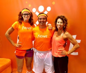 Fitnet founder, Bob Sumners, along with his trainer who inspried him to create Fitnet App with LaLaScoop co-founder and Andiamo Body owner/trainer, Rochelle Robinson at 2014 Idea World Fitness Convention