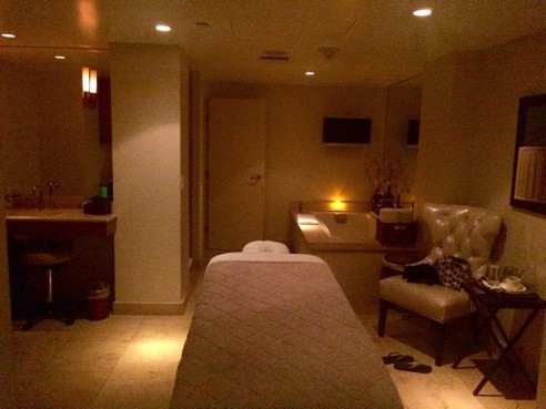 Massage time at Cure Salon and Spa (Photo credit: Melissa Curtin)