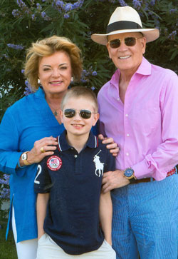 Austism Speaks co-founders, Suzanne and Bob Wright, with their grandson, Christian (photo: courtesy of Austism Speaks)