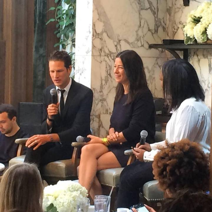 Fashion for Breakfast with guests Rebecca and Uri Minkoff interviewed by Jennifer Pauline.