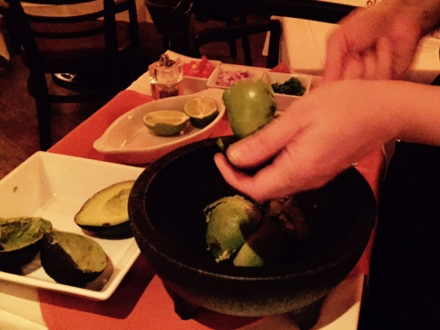 Guacamole prepared while you attempt not to drool. (Photo by Scott Bridges)